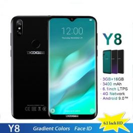 "DOOGEE Y8 4G Smartphone 6.1""HD Waterdrop Screen 3GB/16GB Android 9.0"