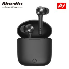 Bluedio TWS Hi wireless bluetooth Stereo sport earbuds headset with charging box built-in microphone