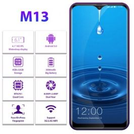"LEAGOO M13 Dual Sim 4G Smartphone 6.1"" Waterdrop 4GB/32GB Android 9.0 Quad Core Fingerprint Face ID"