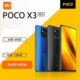 POCO X3 4G Smartphone NFC 6.67-inch Global Version Snapdragon 732G 6GB/64GB/128GB 64MP Quad Camera 5160mAh