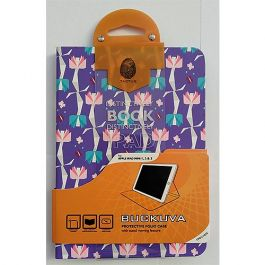 Tactus Buckuva Protective Folio Case for iPad Mini 1,2, 3 Purple Floral