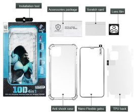 Atouchbo10D 4in1 KingKong Anti burst 360 All-Round Protection Case TPU+PC for iPhone X/XS, iPhone XS MAX, XR, iPhone 11, 11 Pro, 11 Pro Max