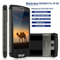 Blackview BV8000 Pro IP68 Waterproof Wifi GPS Smartphone 6GB/64GB Android 7.0 NFC 4180mAh Battery
