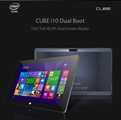 Cube i10 10.6 Inch Dual Boot 2GB/32GB, Intel Z3735F OTG Windows 10 Pro & Android 4.4 HDMI