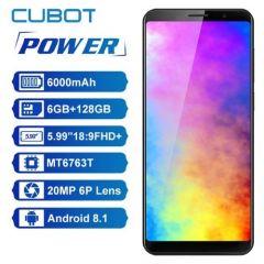 "Cubot Power 4G LTE Dual Sim Smartphone 5.99"" FHD Helio P23 Octa Core 6GB/128GB 6000mAh 6P lens 20.0MP"