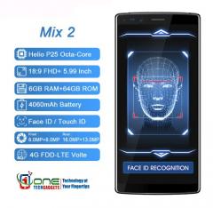 DOOGEE MIX 2 Octa-Core 4G Smartphone 5.99 Inch Face Unlock 6GB RAM  64B and 128GB ROM Helio P25