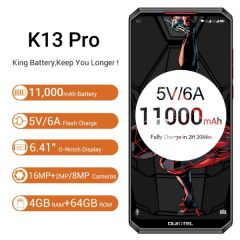 Oukitel K13 Pro 4G Smartphone Global Bands 6.41 inch 4GB 64GB 11000mAh NFC Android 9.0