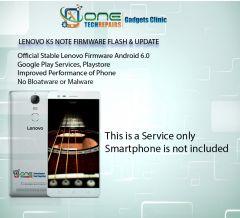 Lenovo K5 Note Smartphone Firmware Installation, Update Service