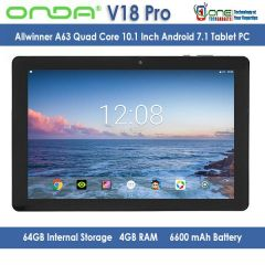 Onda V18 Pro 10.1 Inch Allwinner A63 Quad Core Tablet PC 4GB/64GB Android 7.1