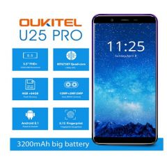 "OUKITEL U25 PRO 5.5"" Dual Sim Octa Core Smartphone 4GB 64GB Dual Rear Camera 13MP+2MP Fingerprint"