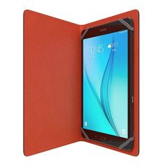 Tactus Buckuva Universal Leather Folio Case for 7 inch and 10 inch iPad Samsung Tablet Black orange