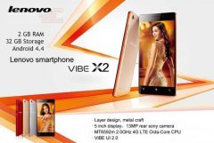 Lenovo Vibe X2 Smart Phone - Octacore 2GHz, 4G, Dual Sim Android 4.4, 2GB/ 32 GB
