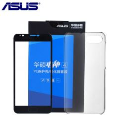 Tampered Glass Screen and Ultra Thin Silicone Transparent Case for ASUS Zenfone 4 Max Plus X015D