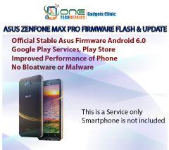 Zenfone Max Pro Smartphone Firmware Installation, Update Service
