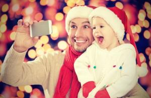 selfie in Christmas